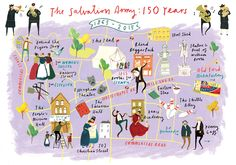 Clair Rossiter - East end of London map illustration Commissioned by the Salvation Army for 'Boundless 2015'