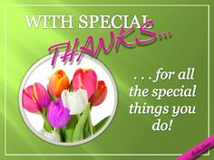 Send this pretty bunch of roses and daisies in thanks and appreciation. Free online With Special Thanks ecards on Thank You Thank You Quotes, Thank U, E Cards, Give Thanks, Appreciation, Tulips, Friendship, Profile, Big