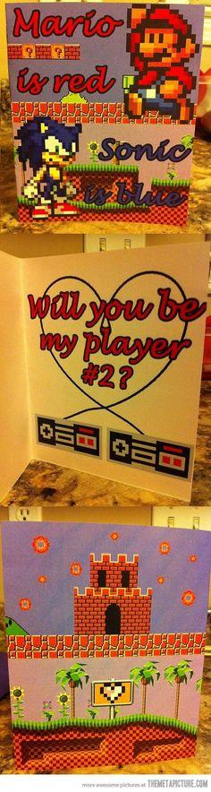 Mario Valentine's Day Card