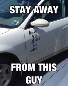 OMG! Better stay clear of this guy, he means business. Hit the image for 15 hilarious car memes. #lol