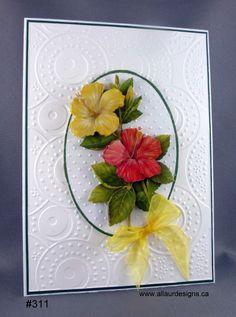 bouquet of flowers in handcut 3D
