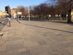 Caithness flagstone at Glasgow Green/Saltmarket