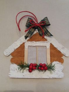 Christmas Decorations To Make, Christmas Crafts For Kids, Diy Christmas Ornaments, P Popsicle Stick Christmas Crafts, Christmas Ornament Crafts, Christmas Crafts For Kids, Craft Stick Crafts, Christmas Projects, Kids Christmas, Homemade Christmas, Holiday Crafts, Popsicle Sticks
