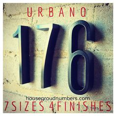 Cool contemporary URBANO numbers and letters from House Proud