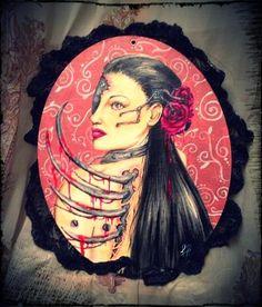 Rouge - Acrylic on canvas, 3D - Francesca Ruggeri