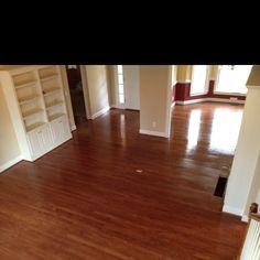 Red chestnut and Bona waterbased finish on whit oak floors Installing Hardwood Floors, Refinishing Hardwood Floors, Floor Refinishing, Time Management, Atlanta, Flooring, Red, House, Ideas