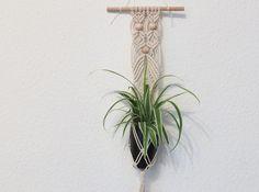Ideal Blumenampel gekn pft natur mit Holzperlen