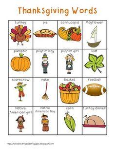 Nutrition must have pin 1937486461 - A resource of nutritonal tips and ideas. Thanksgiving Words, Thanksgiving Preschool, Thanksgiving Turkey, Kindergarten Language Arts, Kindergarten Writing, English Lessons, Learn English, English Class, Prek Literacy