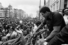 """Ali before his match against Leon Spinks in New Orleans, 1978  -  Bill Walton:  """"Happy birthday, Champ! And after all these years, how remarkable it is that you still remain, simply, 'The Greatest.'  We are eternally grateful for your sacrifice, vision, leadership and courage. We salute you for your power, finesse, intellect, creativity, imagination and the ability to deliver inspiration and peak performance on command. But mostly we want to say thank you!""""  -     Bill Walton is a former ABC, ESPN and NBC basketball announcer and NBA All-Star basketball player."""