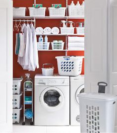 DIY Create a space at laundry room