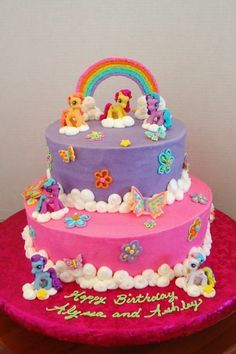 Cup Cake , 6 my Little Pony Cake Decoration : Little Pony Birthday Cake My Little Pony Party, Bolo My Little Pony, Cupcakes, Cupcake Cakes, Torta Candy, Party Cakes, Cake Decorating, 5th Birthday, Birthday Cakes