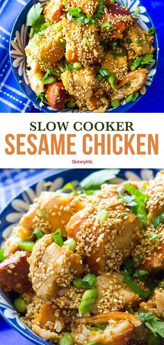 Slow Cooker Sesame Chicken - Diet - Fashion - Woman's And Clean Eating Plans, Clean Eating Dinner, Clean Eating Recipes, Clean Eating Snacks, Healthy Eating, Healthy Food, Healthy Slow Cooker, Slow Cooker Recipes, Cooking Recipes