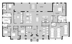 Riverview 44.97 - Acreage Level - Floorplan by Kurmond Homes - New Home Builders Sydney NSW Dream House Plans, Modern House Plans, 5 Bedroom House Plans, House Floor Plans, My Dream Home, Building Plans, Building A House, Sims Building, Attic Bedrooms