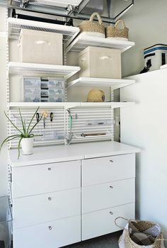 The Ultimate Garage Makeover with The Container Store - All For Home İdeas Garage Makeover, Container Store, Home Organization, Craftsman House Plans, Floor Coverings, Garage Organisation, Home Decor, Bike Storage Home, Modern House Plans