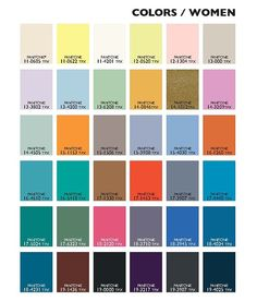 2015 Spring Summer Colour Coding for Women