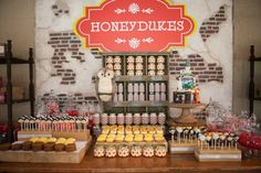 Sweet shop from Honeydukes Hogwarts & Harry Birthday Party at Kara's Party Ideas. See more at karaspartyideas.com!