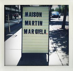 A real dream come true! Maison Martin Margiela, my favorite house, just down the street from my apartment!
