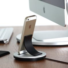 Just Mobile AluBolt is an upright lightning dock for the iPhone and iPad mini.