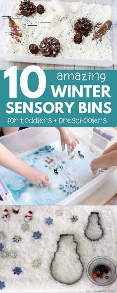Winter Sensory Bins for Toddlers and Preschoolers | Happy Toddler Club