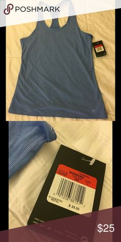 *Brand New* Nike top New with tags blue, racer back, workout, tank top from Nike Nike Tops Tank Tops