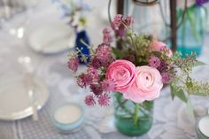 A Fifty Something Bride: Thinking roses, peonies, dahlias and jam jars!