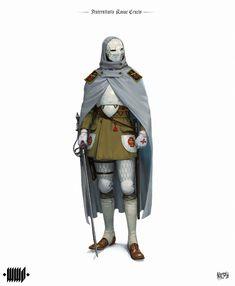 Rosicrucian by Andrius Matijosius : ImaginaryKnights Dark Fantasy, Fantasy Armor, Medieval Fantasy, Medieval Dress, Fantasy Character Design, Character Design Inspiration, Character Concept, Character Art, Steampunk Armor