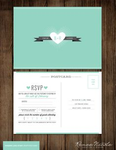 Cute wedding invitations Like the number attending circles! Daisy Wedding, Wedding Rsvp, Wedding Save The Dates, Wedding Wishes, Wedding Paper, Wedding Programs, Our Wedding, Wedding Ideas, Wedding Stuff