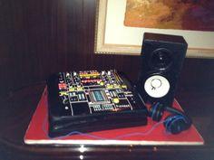 Pioneer DJ Set up Cake by We Take The Cake    www.wetakethecake.com    #dj #cake #pioneer