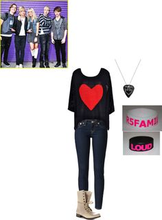 """""""Going to an R5 concert and Ross lynch gives me his phone number"""" by maddieprater ❤ liked on Polyvore"""
