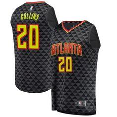 43288a68f4f John Collins Atlanta Hawks Fanatics Branded Fast Break Replica Jersey Black  - Icon Edition, Size: Large
