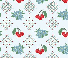 Style Kitchen Cherry Wallpaper in Yellow: Large Print fabric by lioriel on Spoonflower - custom fabric 1930s Kitchen Wallpaper, Custom Wallpaper, French Wallpaper, Retro Wallpaper, Wall Wallpaper, Kitchen Wall Colors, Perfect Wallpaper, Fabric Patterns, Ikat Pattern