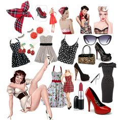 Pin up/Retro/Rockabilly looks, created by alicia-v-garcia on Polyvore