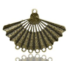 Bronze Hand Fan Charm Connectors 41x57mm sold by LIKEITNOLOVEIT, $5.55