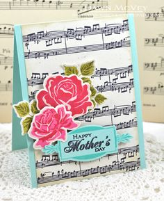 Mother's Day Roses Card by Dawn McVey for Papertrey Ink (February 2013)