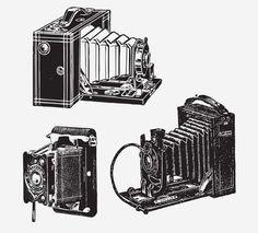 CAMERAS FREE VINTAGE VECTOR PRINTABLE   http://www.freevintagevectors.com/2015/08/cameras.html