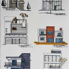 Architecture Design, Interior Architecture Drawing, Architecture Concept Drawings, Architecture Sketchbook, Interior Design Sketches, Architect House, Staircase Design, Building Design, Riyadh