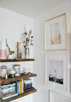"""thehardboundsnob: I spy with my little eye, some more 'bookcase inspiration': """"California design meets a Scandinavian aesthetic in Brooklyn..."""