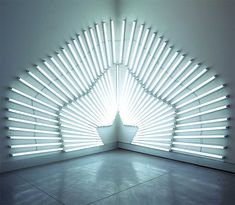 Fluorescent Light Installations by Yochai Matos light installation