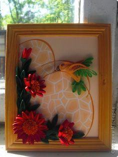Картина, рисунок, панно Квиллинг: колибри Бумажные полосы. Фото 1