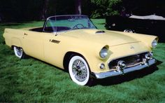 1955 T Bird Need Want Seen While Running Errands Yesterday Ford Thunderbird Retro