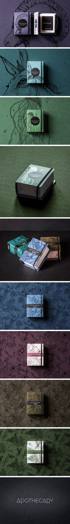 Apothecary soap packaging // by The6th Creative Studio, Italy