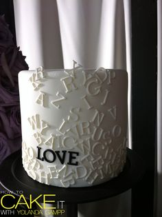 Now THIS is what I call LOVE letter. #Baking #Cake
