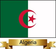 'Algeria Named Flag Gifts' Sticker by mpodger Framed Prints, Canvas Prints, Art Prints, Block Wall, White Crosses, Place Names, National Flag, Wall Tapestry, Decorative Throw Pillows