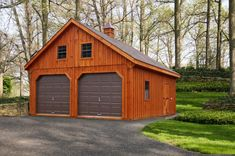 20 x 24 Two Story Board and Batten A-Frame / Cedar Stain | Penn Dutch Structures