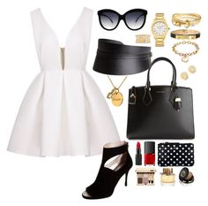 LWD Glam! by stylebysheyda on Polyvore featuring polyvore fashion style DKNY Michael Kors Bowie Fendi Ted Baker Dee Berkley Blue Nile Ivanka Trump Tiffany & Co. H&M Italia Independent Brooks Brothers Gucci Barry M Burberry NARS Cosmetics clothing