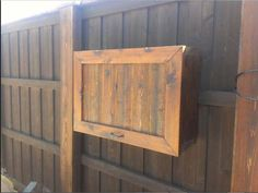 Gorgeous Teak Wood Flip Top Single Door Outdoor Tv Cabinet Attach At Wooden  Gate Fences As