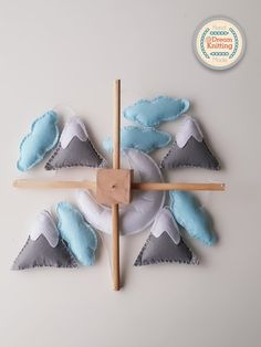 Your place to buy and sell all things handmade Cloud Mobile, Baby Crib Mobile, Baby Cribs, Airplane Mobile, Baby Shower Gifts, Baby Gifts, Crochet Baby Mobiles, Wool Felt, Nursery Decor