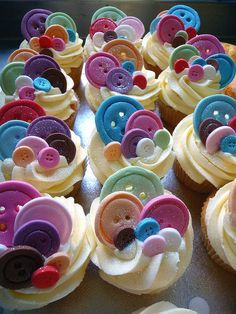 cupcakes diferent colors