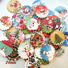 Home & Garden New 50pcs Christmas Holiday Wooden Collection Snowflakes Buttons Snowflakes Embellishments 18mm Creative Decoration Fixing Prices According To Quality Of Products
