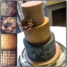 My first time working with edible sequins. - Cake by cakesdamour